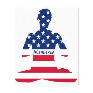 USA-Meditation Amerikaneryoga Leinwanddruck