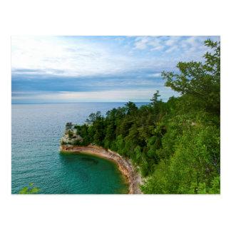 USA, Michigan. Das Schloss-Felsformation 3 des Postkarte