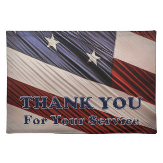 USA-Militärveteranen-patriotische Flagge danken Stofftischset