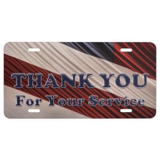 USA-Militärveteranen-patriotische Flagge danken US Nummernschild