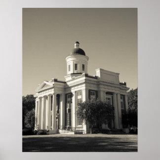 USA, Mississippi, Bezirk. Kinostadt der Zentrale Posterdruck