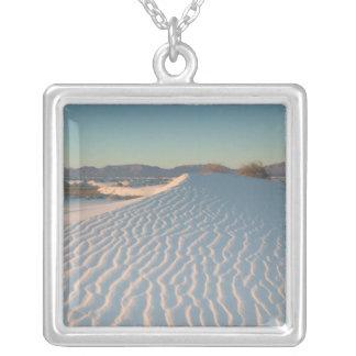 USA, New Mexiko, weiße Sande national Versilberte Kette