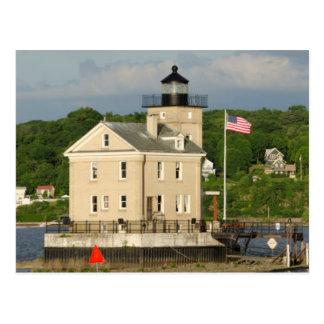 USA, New York, Kingston, der Hudson. Rondout Postkarte