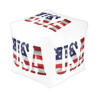 USA patriotisch Kubus Sitzpuff