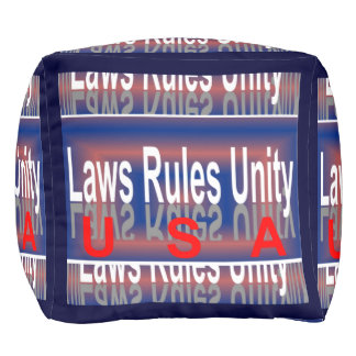 USA patriotisches Puff-Zuhause Dekor-Rot/Weiß/Blau Kubus Sitzpuff