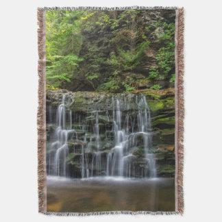 USA, Pennsylvania, Benton. Wasserfall in Ricketts Decke