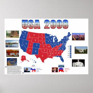 USA-Präsidentschaftswahl-Plakat 2008 Poster