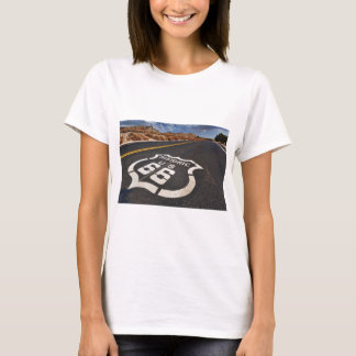 USA-Reise-frisiertes Auto Verkehrsschild des Weges T-Shirt