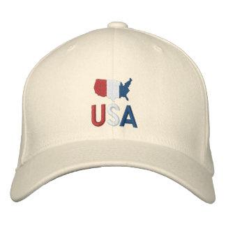 USA roter weißer und blauer amerikanischer Baseballcap