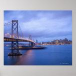 USA, San Francisco, Stadt-Skyline mit goldenen 2 Poster