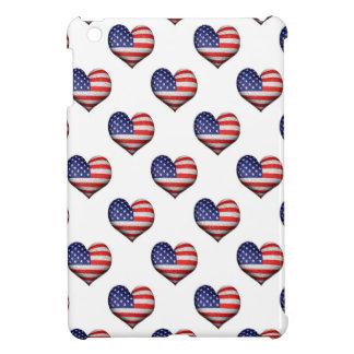 USA-Schmutz-Herz-geformtes Flaggen-Muster iPad Mini Hülle