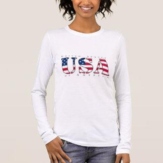 USA-Shirt für Frauen, nagelneuer Entwurf des Langarm T-Shirt