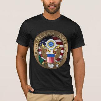 USA-Siegel - Gott segnen Amerika T-Shirt