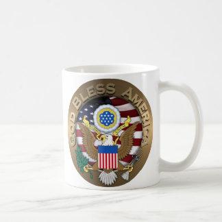 USA-Siegel - Gott segnen Amerika Kaffeetassen