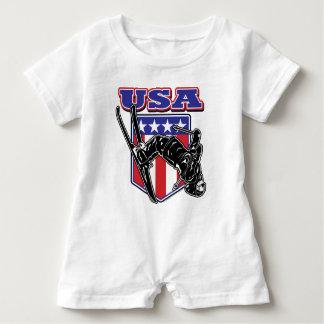 USA-Skifahrer Baby Strampler