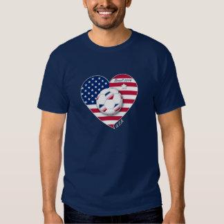 USA Soccer Team.  Fußball die Vereinigten Staaten T-shirt