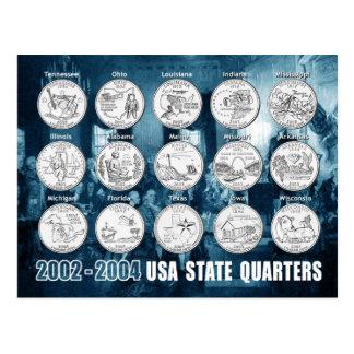 USA-Staat viertelt (Münzen) 2002 - 2004 Postkarte