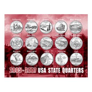 USA-Staat viertelt (Münzen) 2005 - 2007 Postkarte