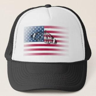 USA-Staatsflagge und -schmetterling Truckerkappe