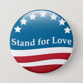 USA-Stand für Liebeknopf Runder Button 7,6 Cm