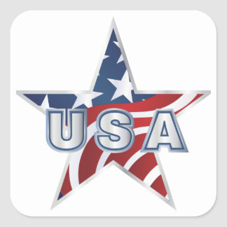 USA-Stern Quadrat-Aufkleber
