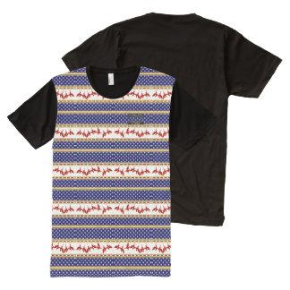 USA-Stern-rotes kahler Adler-heimat-Shirt T-Shirt Mit Komplett Bedruckbarer Vorderseite