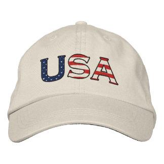 USA-Sterne u. -streifen stickten Hut Bestickte Caps