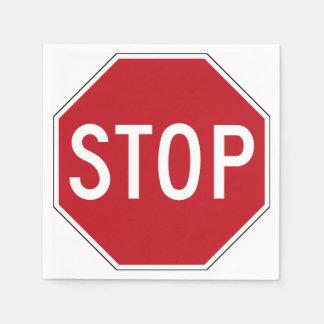 USA-Stoppschild Serviette