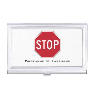 USA-Stoppschild Visitenkarten Etui