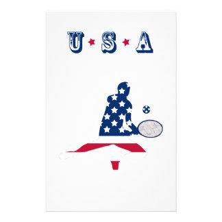 USA-Tennis Amerikanerspieler Briefpapier