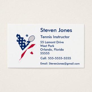 USA-Tennis-Amerikanerspieler Visitenkarte