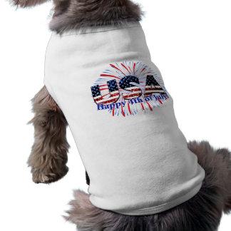 USA-Textflaggen-Glitterfeuerwerke 4. von Juli-Hund Top