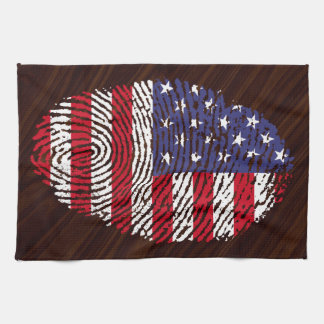 USA-Touchfingerabdruckflagge Geschirrtuch