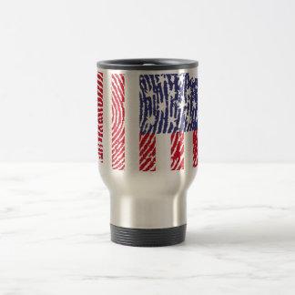 USA-Touchfingerabdruckflagge Reisebecher