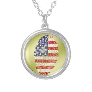 USA-Touchfingerabdruckflagge Versilberte Kette