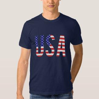 USA - USA-Flaggen-Buchstaben Tshirt