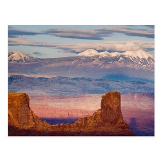 USA, Utah. Landschaftlich von den La-Salz-Bergen Postkarte