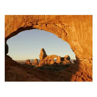 USA, Utah, wölbt Nationalpark. Drehkopfbogen Postkarte