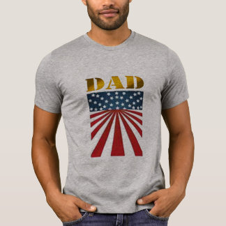 USA-VATIt-shirt Flaggen-Sternstreifen der Vatertag T-Shirt