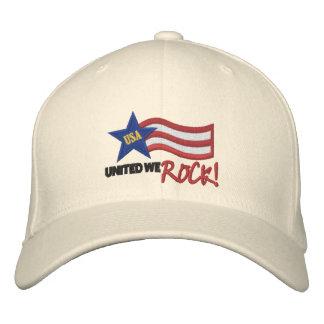 USA vereinigten uns schaukeln Stickerei-Hut Bestickte Mütze