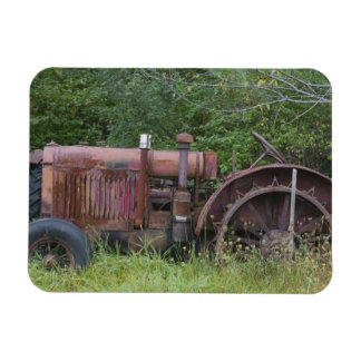 USA, Vermont, MANCHESTER: Antiker Ackerschlepper Rechteckige Magnete