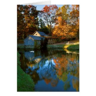 USA, Virginia, blaue Ridge-Allee, Mabry Mühle Karte