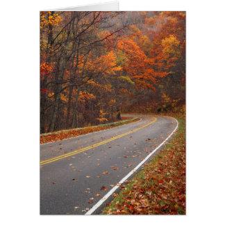 USA, Virginia, Shenandoah Nationalpark, Skyline Karte