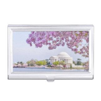 USA, Washington DC, Kirschbaum in der Blüte Visitenkarten Etui