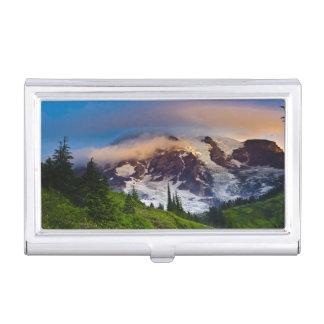 USA, Washington, der Mount Rainier. Morgensonne Visitenkarten Etui