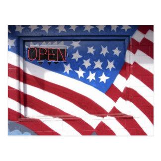 USA, Washington, Moses See. Flaggenwandwandgemälde Postkarte