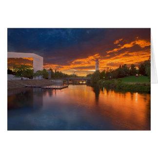 USA, Washington, Spokane, Flussufer-Park Karte