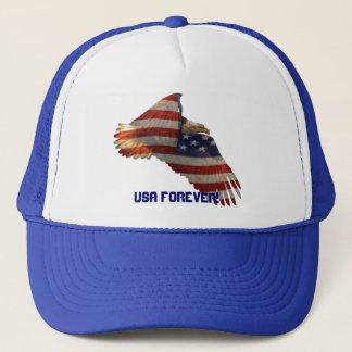 USA-Weißkopfseeadler u. Hut US-Flagge USA FÜR Truckerkappe