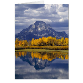 USA, Wyoming, großartiges Teton NP. Gegen Karte