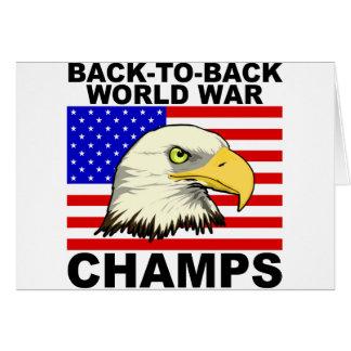 USA:  Zurück zu hinteren Weltkrieg-Champions Karte